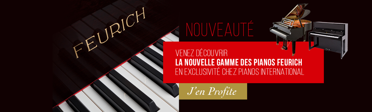Pianos Feurich en exclusivité